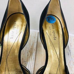 kate spade Shoes - Kate Spade Black Satin Heels